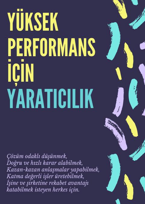 Yüksek Performans için Yaratıcılık Poster